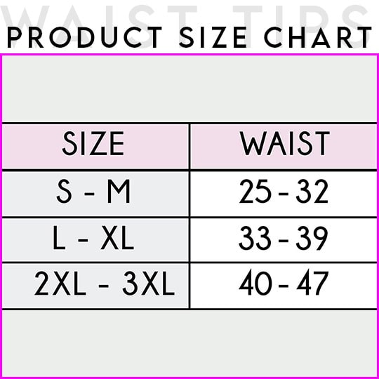 Sbelt Hourglass Waist Trainer Size Chart
